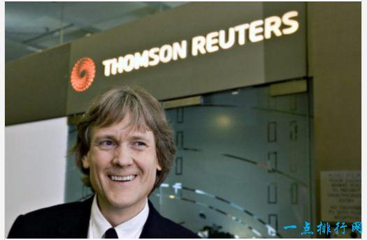加拿大最富有的十个名人排行 大卫• 汤姆森排第