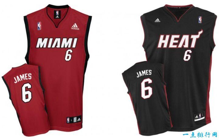 NBA最畅销的十款球衣排行,你最喜欢哪一款
