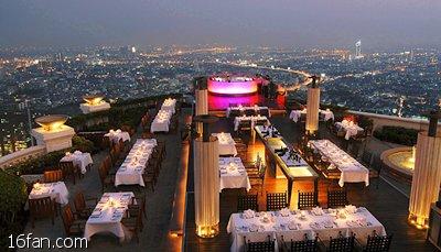 泰国曼谷美得不像话的豪华(高空)景观餐厅