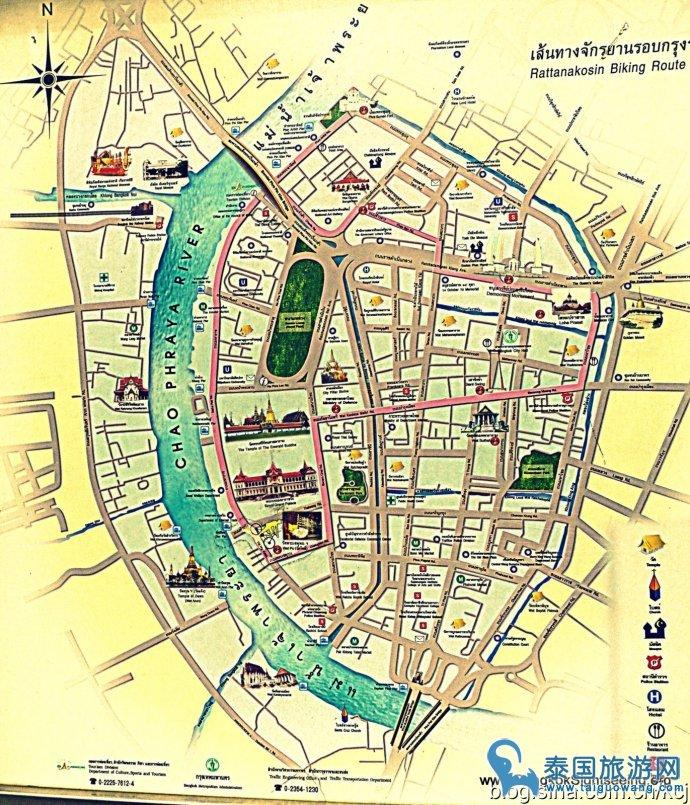 曼谷地图景点手绘大全