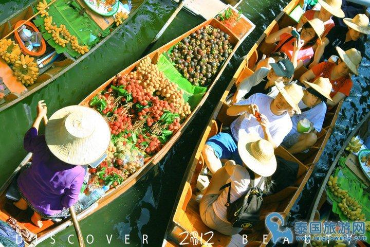 曼谷最有名的水上市场--丹嫩沙多水上市场