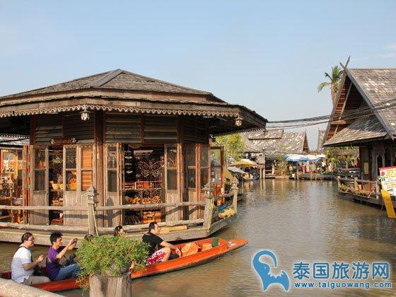 曼谷周边人少的特色水上市场--大城水上市场