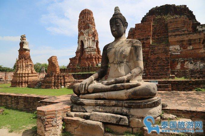 """泰国名胜古迹--大城必去景点""""玛哈泰寺"""""""