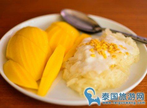 泰国最好吃的芒果糯米饭:哲阿姨芒果糯米饭