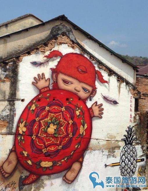 泰国天性涂鸦墙,绚酷游客照就是这么来的!