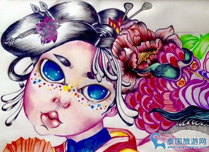 泰国本性涂鸦墙,绚酷旅客照就是这么来的!