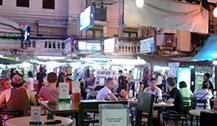 曼谷考山路--背包客夜生活的聚集地