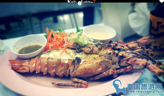 苏梅岛上极具人气的海鲜大排档:mitra