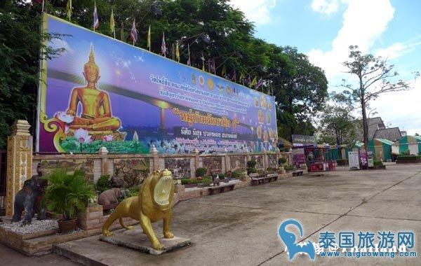 泰国廊开自助游必去绝美景点:Wat Pho Chai寺庙