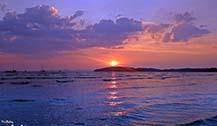 泰国甲米奥南海滩遇见绝美夕阳 听说美食和夕阳更配哦!