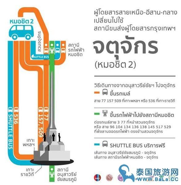 曼谷胜利纪念碑迷你小巴站搬迁后该是哪里坐车?(附前往新车站的公交车攻略)