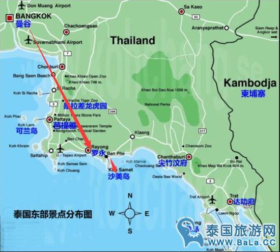 曼谷到沙美岛2016最新详细交通攻略 大巴小巴两种交通由你选 芭拉旅游网