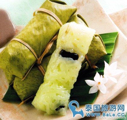泰国热带风情点心:泰式芭蕉粽