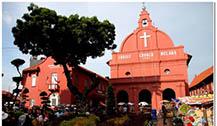 马六甲热门景点:荷兰红屋和基督教
