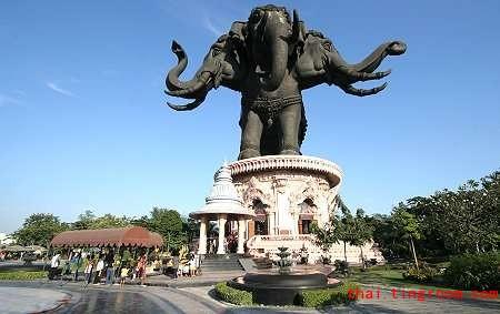 全亚洲最大的三面神象庙:三头神像博物馆