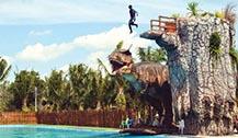 泰国攀牙府最新开幕大型的水上恐龙公园-Dinosea World Park
