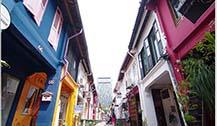 新加坡哈芝街 色彩超斑斓的一条小巷子
