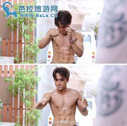 泰国最佳男配角Alex Rendell猛练健身秀肌肉身材