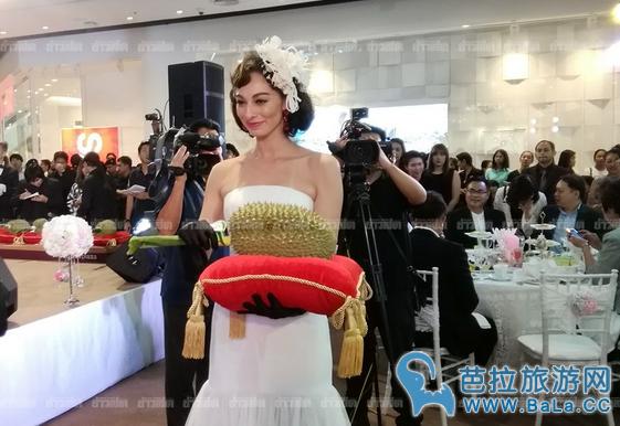 泰国榴莲拍卖1颗榴莲最高价竟达30万铢!