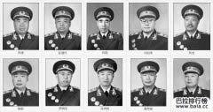 中国开国十大元帅排名