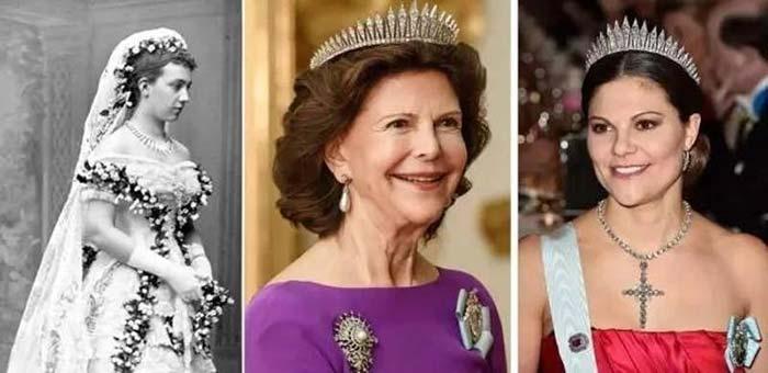 ▲从左至右:巴登的维多利亚公主、