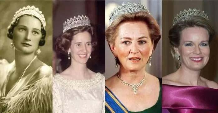 ▲从左至右:阿斯特里王后、法比奥拉王后、保拉王后、现任玛蒂尔德王后
