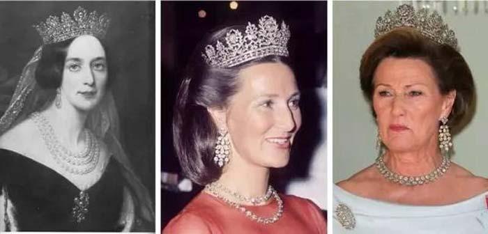 ▲约瑟芬娜王后(左)与挪威现任王后索尼娅