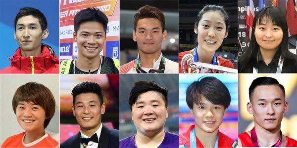 2018年中国十佳运动员榜单,有你们的偶像吗?