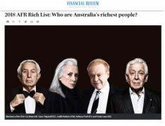 谁是澳大利亚的首富?2018澳大利亚十大富豪榜