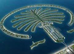 世界最美十大人工岛屿 朱美拉棕榈岛位居榜首