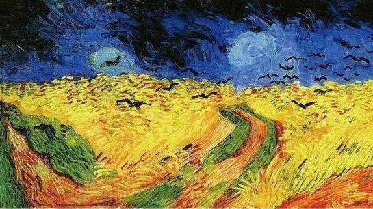 《乌鸦群飞的麦田》创作于1890年7月,是梵高自杀之前创作的一幅油画