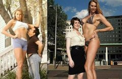 世界上最高的女模特,身高近达2.13米