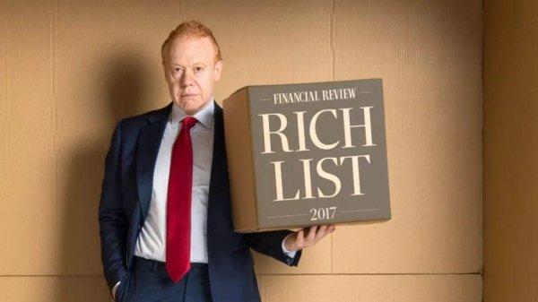 2019澳大利亚首富前十排名,Gina阿姨排第二