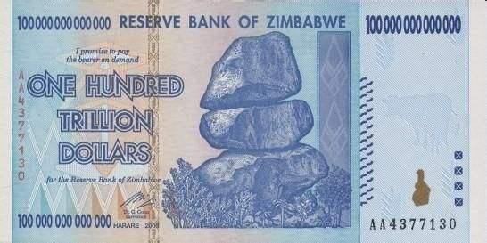 世界十大最不值钱的货币,第一名是津巴布韦