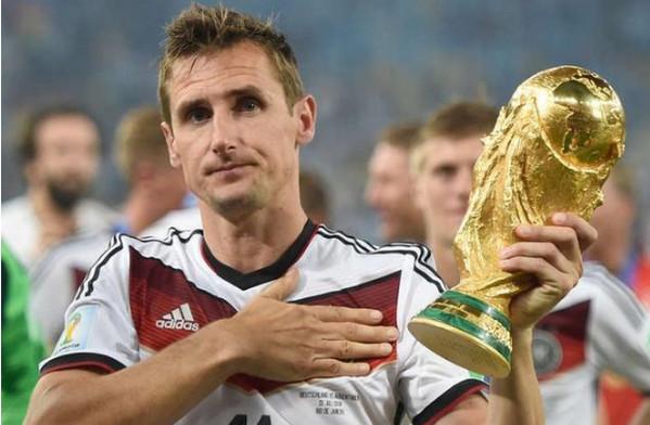 世界杯进球最多的球员是谁?克洛泽进16球