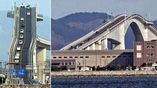 世界上坡度最高的大桥,江岛大桥坡度达6.1%