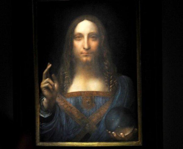 世界上拍卖最贵的画,达芬奇的《救世主》
