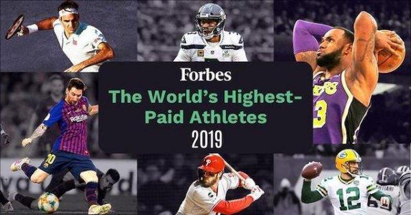 2019福布斯全球薪酬最高的运动员排名 梅西夺冠