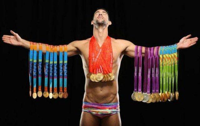 世界泳坛实力最强的男运动员 菲尔普斯23枚金牌