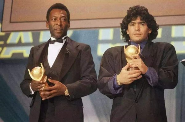20世纪最伟大2位足球运动员,贝利和马纳多纳