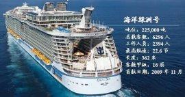 世界上最大的游轮,海洋绿洲号全长约360米