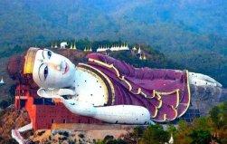 世界上最大的卧佛,缅甸达隆卧佛长180米