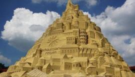 世界上最大的沙雕城堡,共用3500吨沙子