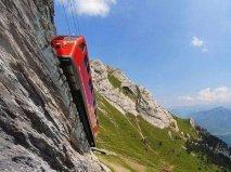 世界上最惊险的火车,瑞士皮拉图斯山铁路