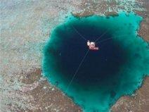 世界上最深的海洋蓝洞,三沙永乐龙洞深达300米