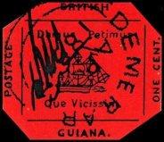 世界上最珍贵的邮票,英属圭亚那一分洋红