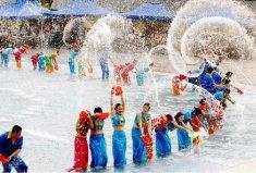 傣族最隆重的节日,泼水节代表傣族的新年