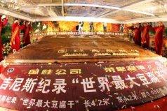 世界上最大的豆腐干,长4.21米重达1.86吨