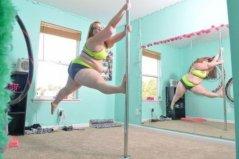 世界上最重的钢管舞娘,体重达到236斤