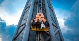 世界上最高的跳楼机,高484米1秒落地